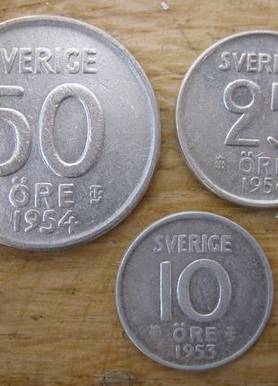 Набор монет Швеции (серебро)