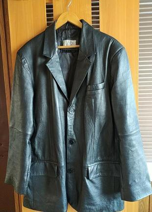 Vera pelle мужская кожаная куртка пиджак