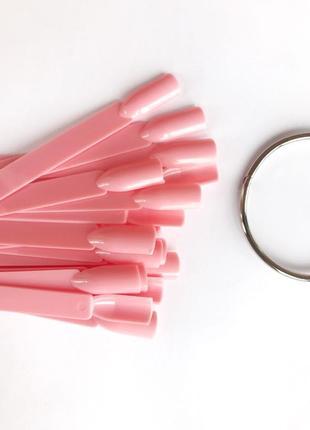 Типсы на кольце, розовые, чёрные, прозрачные, матовые.