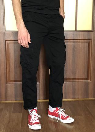 Черные штаны карго Denim_Co.
