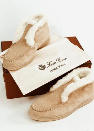 Loro piana ботинки лоферы на меху