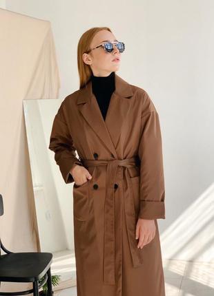 Коричневый плащ | тренч | пальто на осень