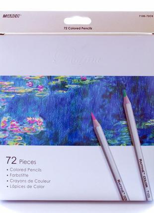 Цветные карандаши Marco Raffine на 72 цвета