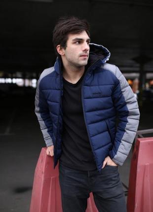"""Зимняя куртка intruder """"impression"""" серо-синяя"""