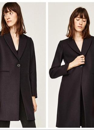 Трендовое пальто пиджак бойфренд тренч, натуральная шерсть