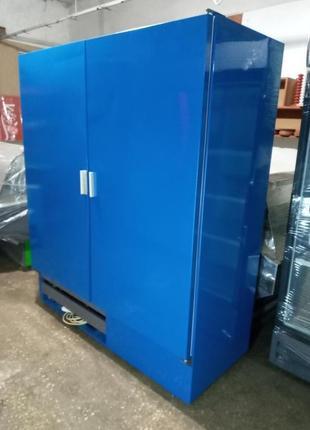 Холодильный шкаф Cold б у, глухой двухдверный шкаф холодильный б