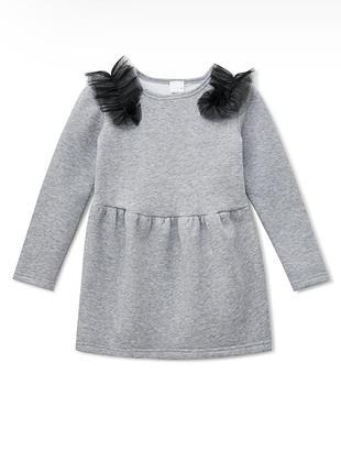 Платье kidscouture футер с начесом серое (10511536)