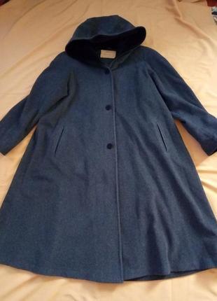 Распродажа!   стильное пальто с капюшоном, 80% шерсть, большой...