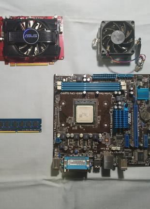 ПК комплект,asus m5a78l-m le,amd athlon x3 445,radeon hd6670,4GB