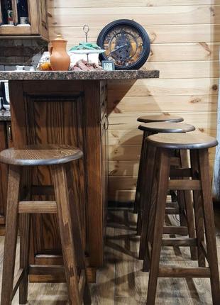 Барные стулья из дерева Бук табурет Барный кухонная табуретка ОПТ