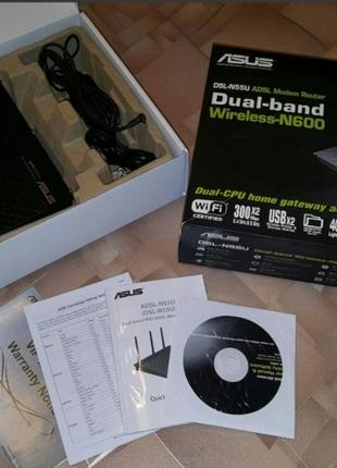 Роутер DSL-N55U Dual Band ASUS Wi-Fi ADSL Modem-Router