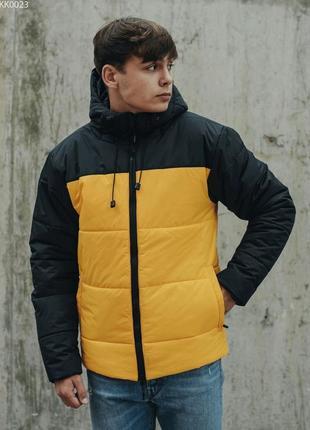 Зимняя куртка staff basic yellow & black