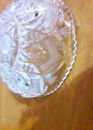 Ваза-конфетница хрусталь,не штамповка СССР