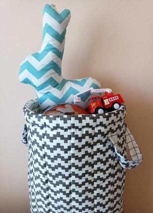 Корзина для игрушек текстильная 35х50см