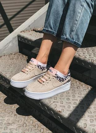 Кроссовки nike air force 1 leopard