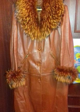 Пальто/куртка, зимнее /деми, с меховой подстежкой на ог112-114