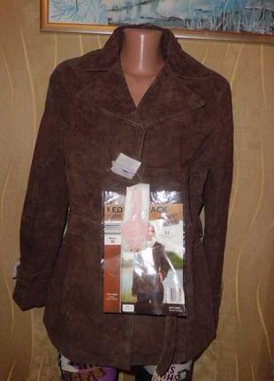 Женская куртка из натуральной кожи. tchibo. м-l