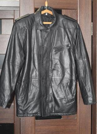 Добротная кожаная куртка 54-56