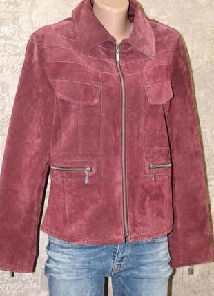 Роскошный пиджак из натуральной замши piano women 46-48
