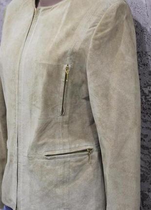 Роскошный пиджак из натуральной замши biba pariscop 44-46
