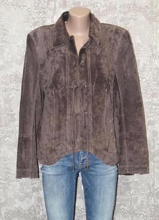 Роскошный пиджак из натуральной замши modelene 50-52