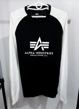 Лонгслив alpha industries