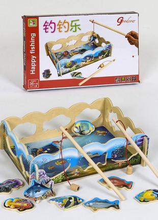 Деревянная игра Рыбалка магнитная, в коробке