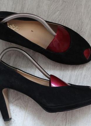 Роскошные туфли ,босоножки  gabor. 39-40 натуральная замша. по...