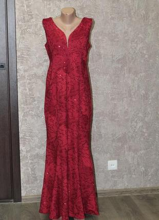 Роскошное вечернее платье bodyflirt 50-52 шикарное