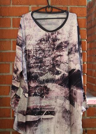 Стильный реглан, рубашка. большой размер 56-58