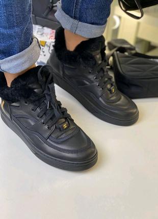 Зимние кроссовки Chanel