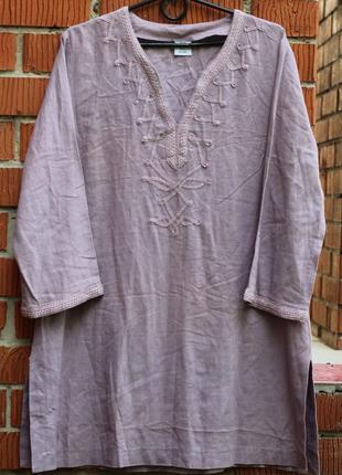 Роскошная туника  как вышиванка  50-52 comfort fashion
