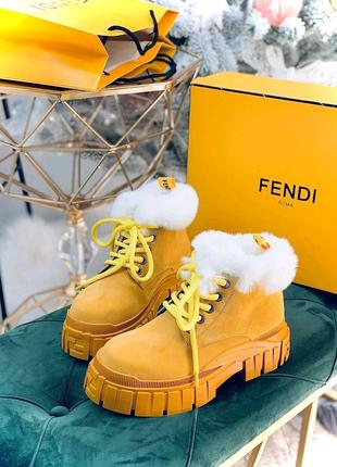 Зимние ботинки Fendi