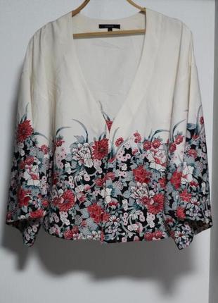 Роскошный летний пиджак в цветочный принт lindex 46-48