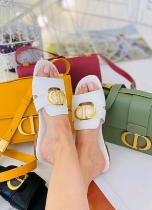 Шлепанцы  Dior кожа