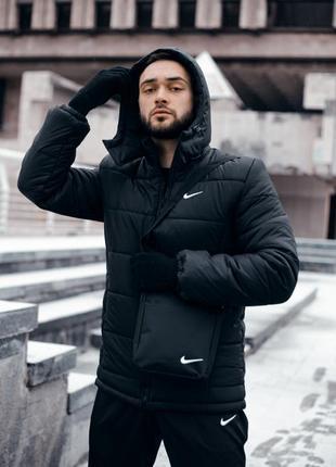 "Зимняя куртка nike ""европейка"" черная"