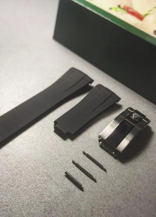 Каучуковый браслет ремешок для часов Rolex Ролекс/часы Rolex D...