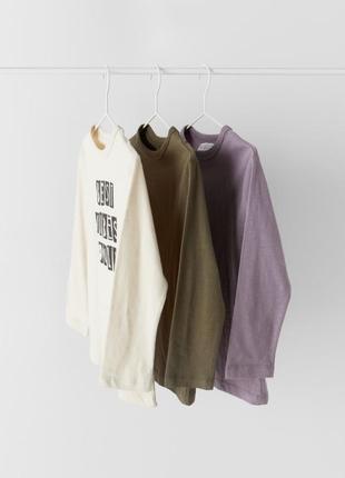 Набор лонгсливов, футболки с длинным рукавом zara