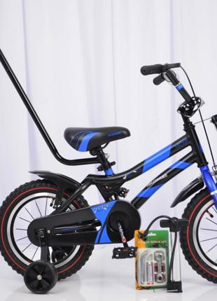Детский велосипед HAMMER 14  S500 колеса 14 дюймов синий
