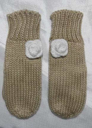 Рукавицы теплые шерстяные варежки рукавиці