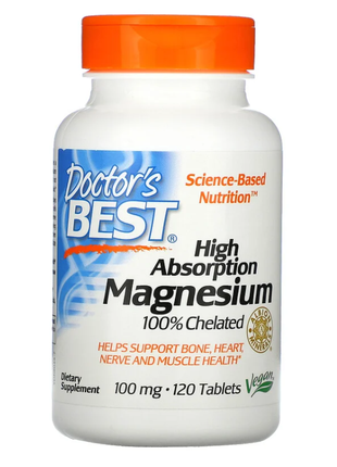 High Absorption Magnesium 100 Chelated with Albion Minerals 100-m