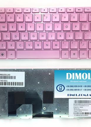 Оригинальная клавиатура для HP Mini 210-1000 series, pink, ru