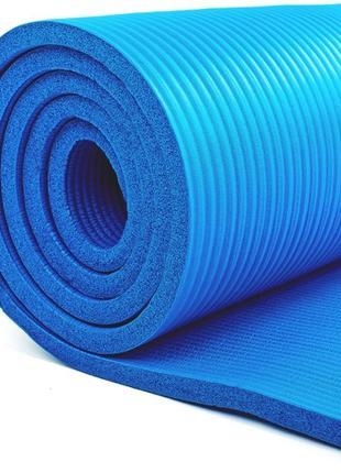 Премиум коврик для фитнеса и йоги NBR 10мм (каучуковый)