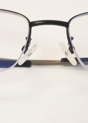 Мужские очки для зрения в титановой оправе / диоптрия +3.5