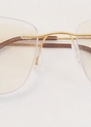 Сверхлегкие мужские очки для зрения титановая оправа +3.5