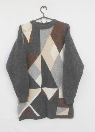 Шерстяной свитер туника с добавлением ангоры