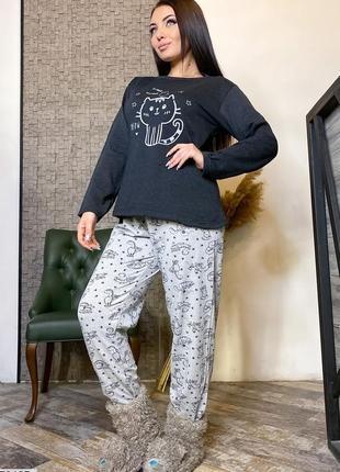 Пижама женская на флисе