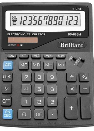 Калькулятор 'Brilliant' BS-888M 12разрядов