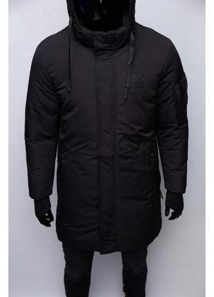 Куртка мужская удлиненная зимняя givenchy chs soft shell 973 ч...