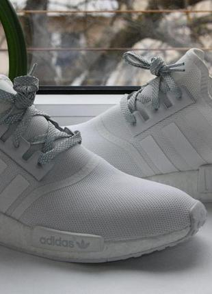 Кроссовки adidas nmd r1 triple white reflective eqt support ul...